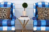 "Chelsea Wing Chair - Inslee ""Watercolor Gingham"""