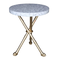 Eggshell Foot Accent Table