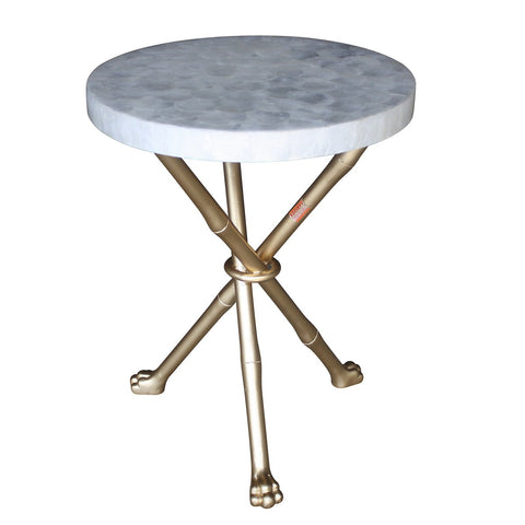 Capiz Foot Accent Table