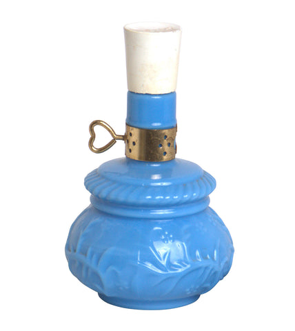 Gold and Blue Perfume Bottle