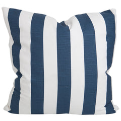 Navy Slub and White Stripe Pillow
