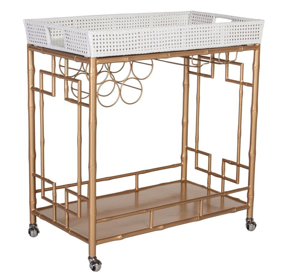 The Madison Mixer Bar Cart in Gold