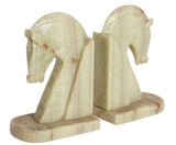 Onyx Horse Bookends