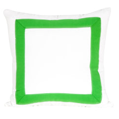 Tape Trim Pillow - Lime