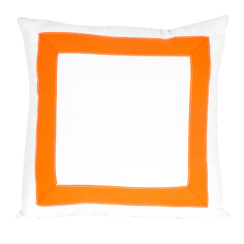 Tape Trim Pillow - Clementine