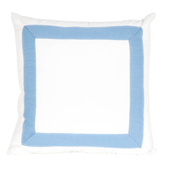 Tape Trim Pillow - Light Blue