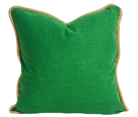 Colorblock Linen Pillow Emerald & Pool