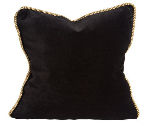 Colorblock Velvet Pillow Black & White
