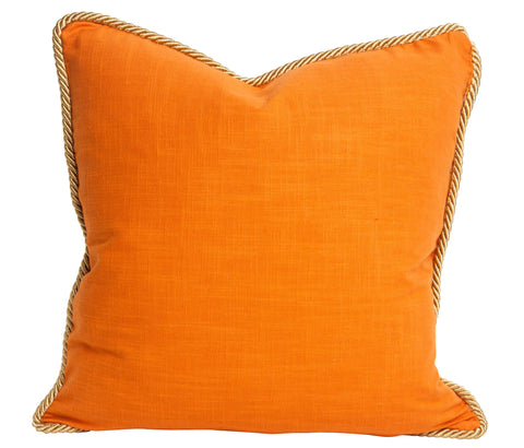 Colorblock Linen Pillow Persimmon & Koi