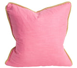 Colorblock Linen Pillow Watermelon & Petal