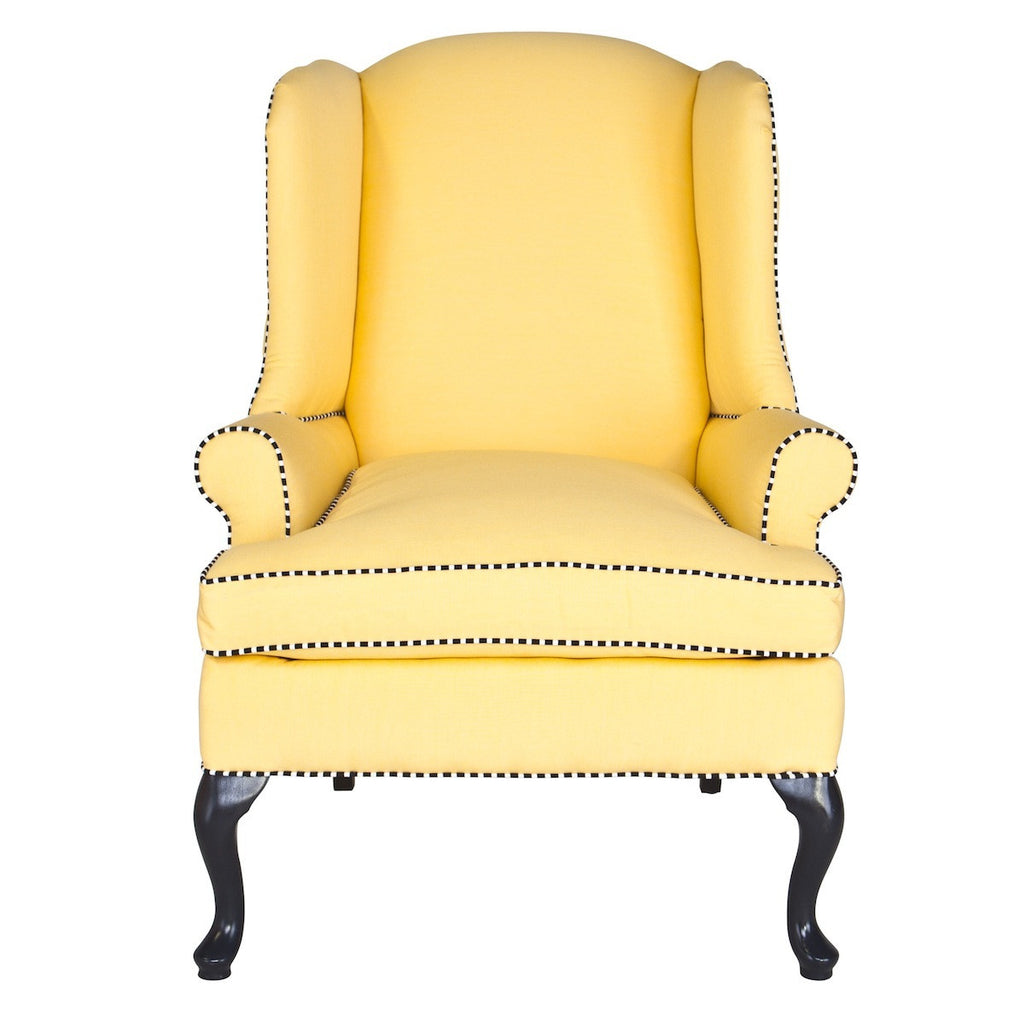 Chelsea Wing Chair in Twill