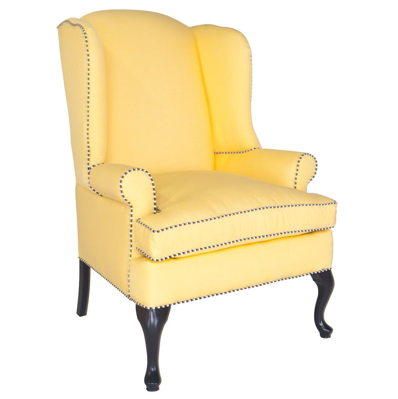 "Chelsea Wing Chair - Inslee ""Citrus Blossom"""