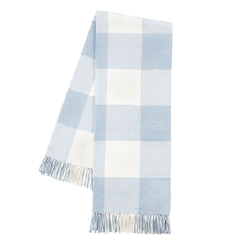 Baby Blue Buffalo Check Throw