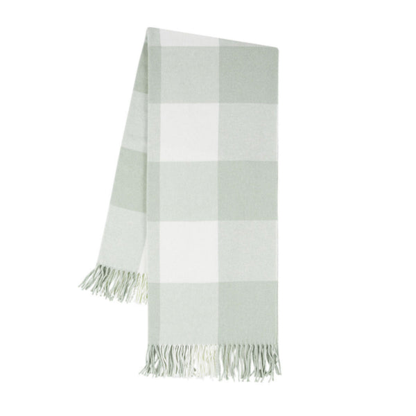 Sea Glass Italian Buffalo Check Throw