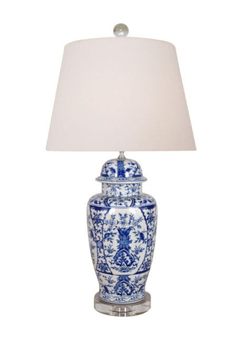 Blue and White Temple Lamp