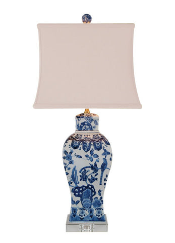 Blue and White Peregrine Vase Lamp