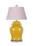Yellow Ginger Jar Lamp