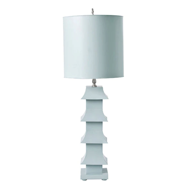 Leni Pagoda Lamp in French Blue
