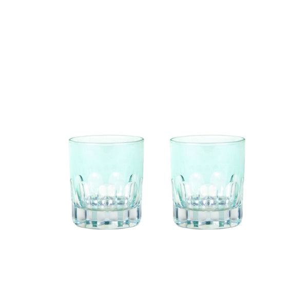 Double Old Fashioned Glasses in Mint