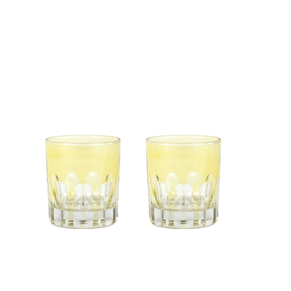 Double Old Fashioned Glasses in Limoncello