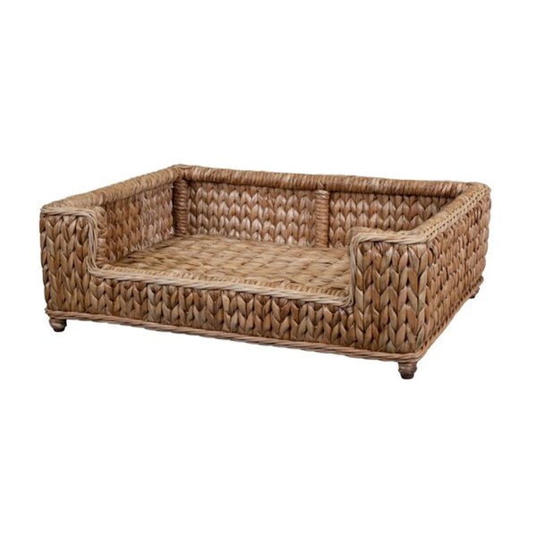 Woven Seagrass Dog Bed w/ Polyester Cushion