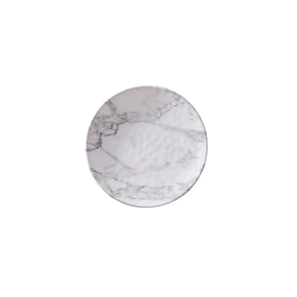White Marble Salad Plate