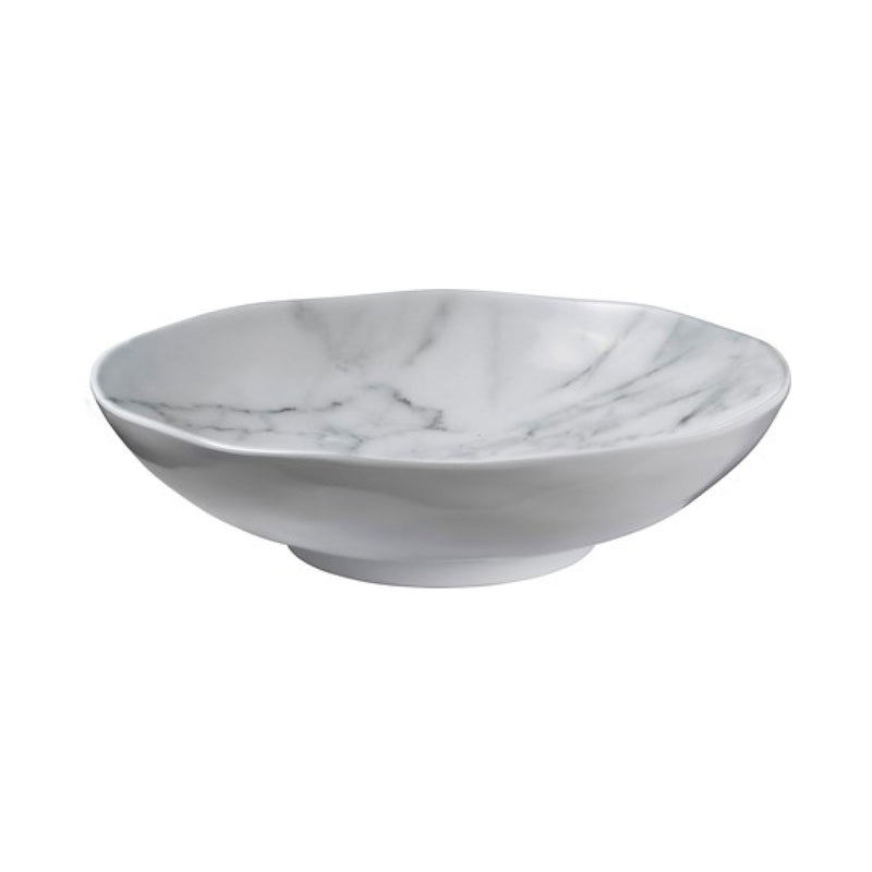 "White Marble 12"" Serving Bowl"