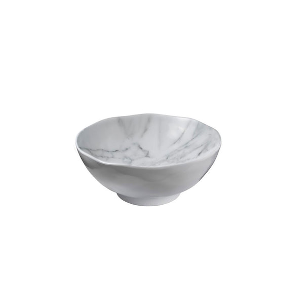 White Marble Salad Bowl