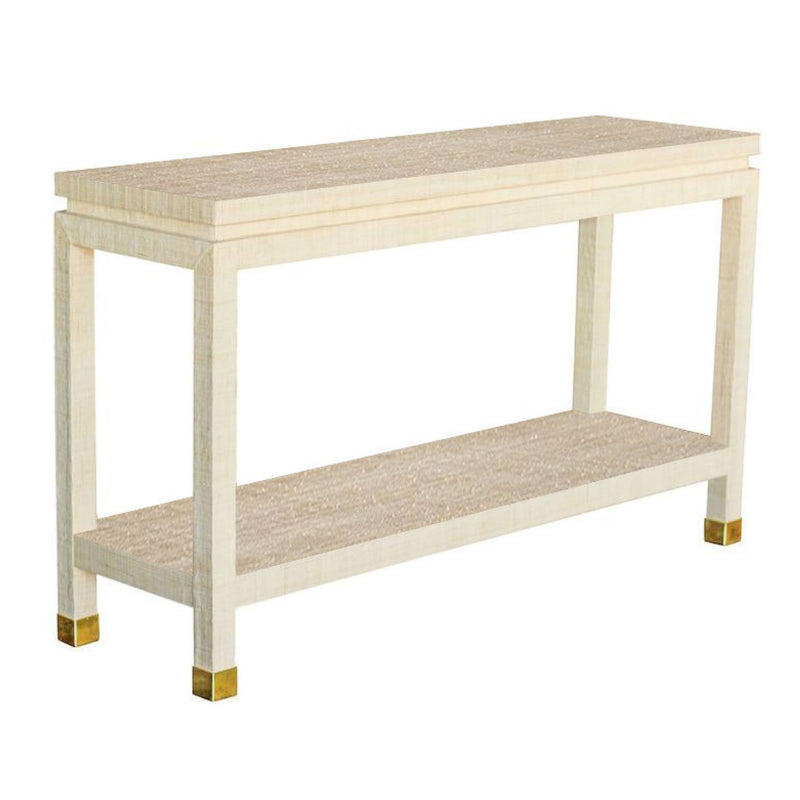 Ming Grasscloth Console