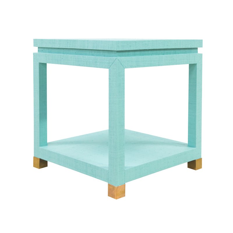 Ming Grasscloth End Table