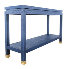 Ming Grasscloth Console - Choose Your Own Color Collection
