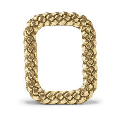 Mini Gold Braid Rectangle Frame
