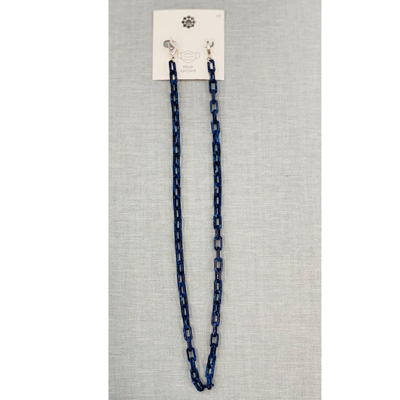 Navy Acetate Mask Chain