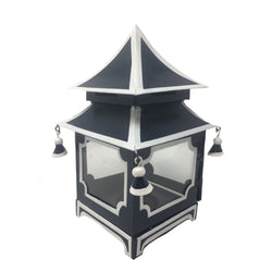 Pagoda Lantern in Navy and White