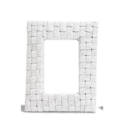 "White Rattan Over and Under Weave Frame  4""x 6"""