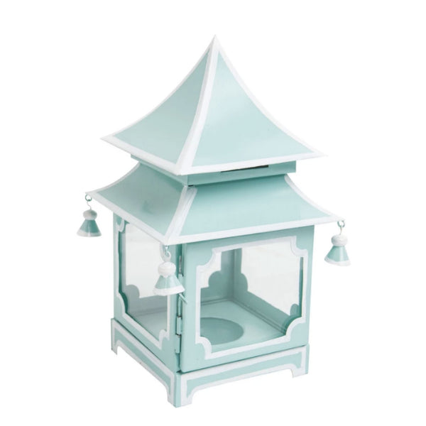Pagoda Lantern in Mint and White