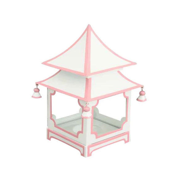 Pagoda Lantern in Pink and White