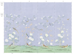 Periwinkle Chinoiserie Panels