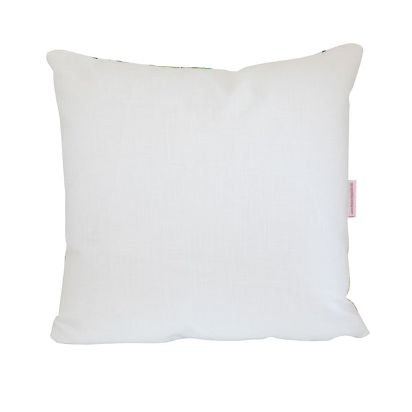 Citrus Garden Lime Pillow Featuring Aqua Fruit