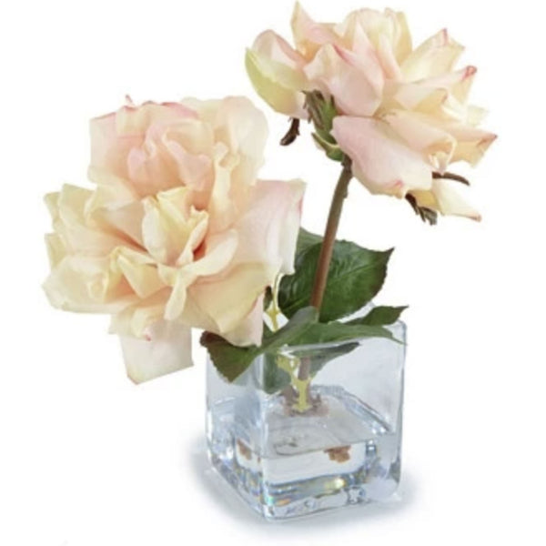 Blush Rose Cutting in Glass