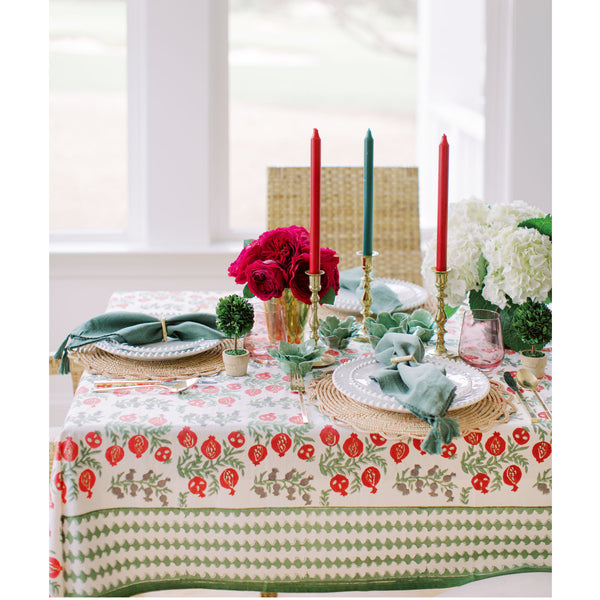 Pom Bells Harvest Medium Tablecloth