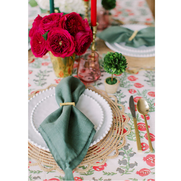 Forest Green Linen Napkin