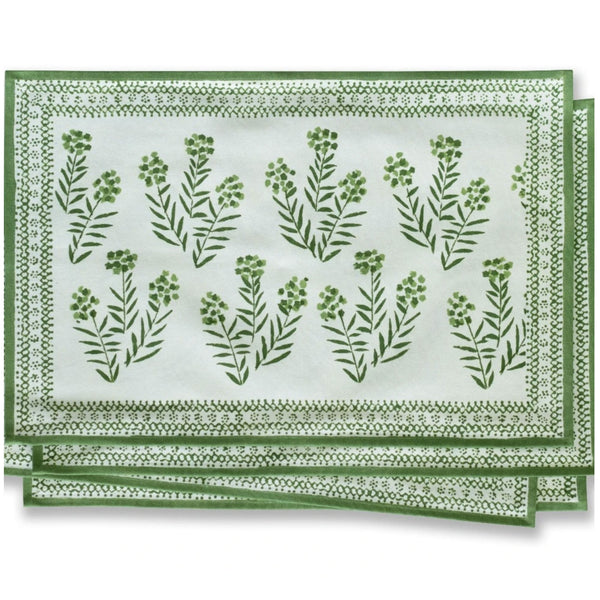 Phlox Green Placemat