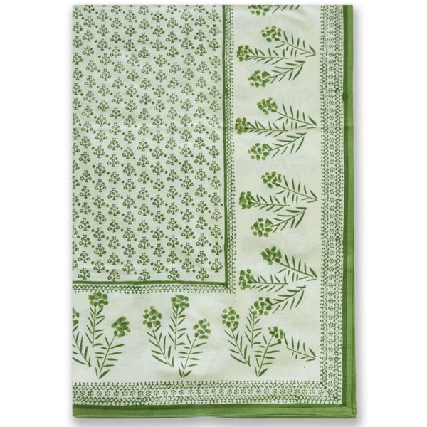 Phlox Green Large Tablecloth