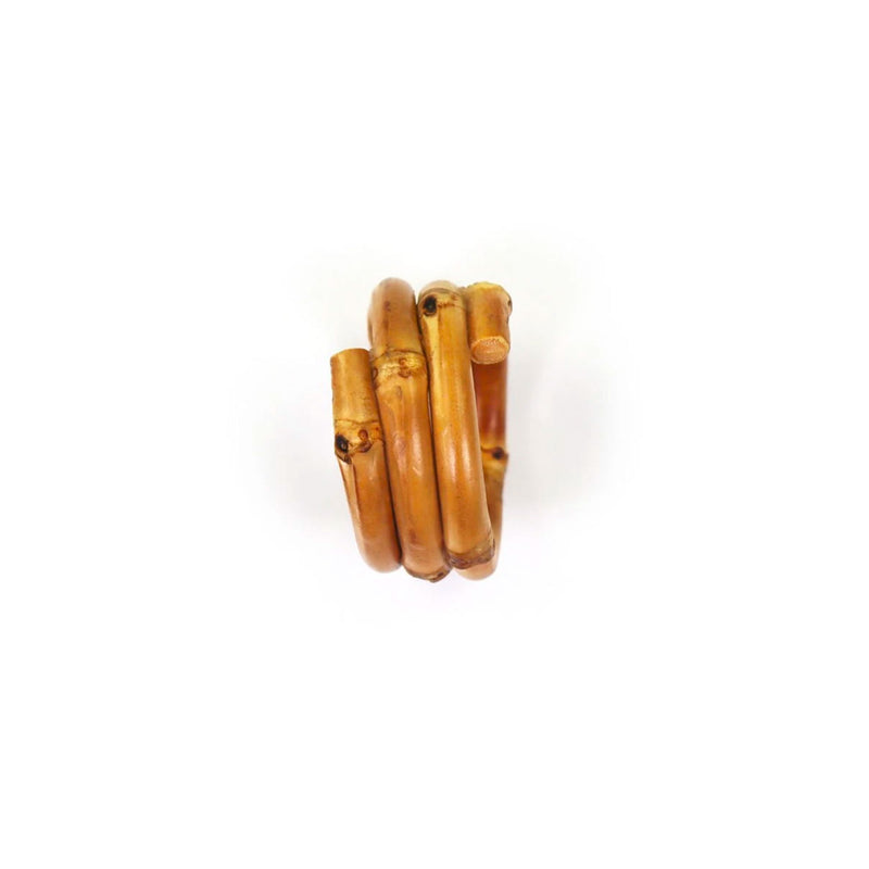 Bamboo Napkin Rings - Set of 4