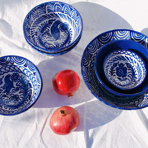 Medium Hand-Painted Azul Dish