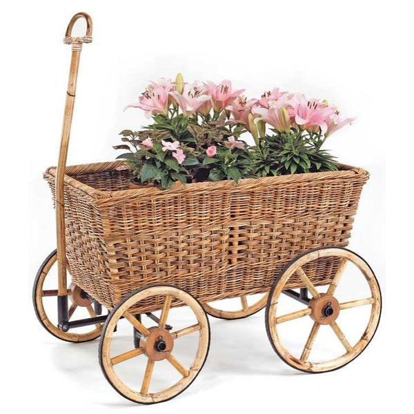 Provence Wicker Farmer's Cart