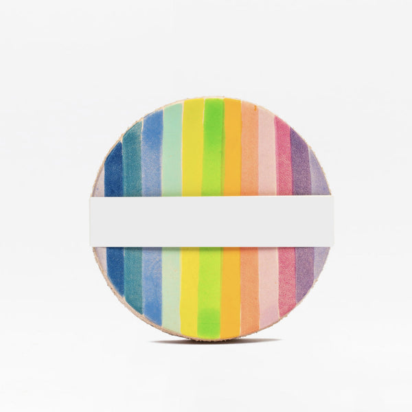Rainbow Stripe Coaster Set