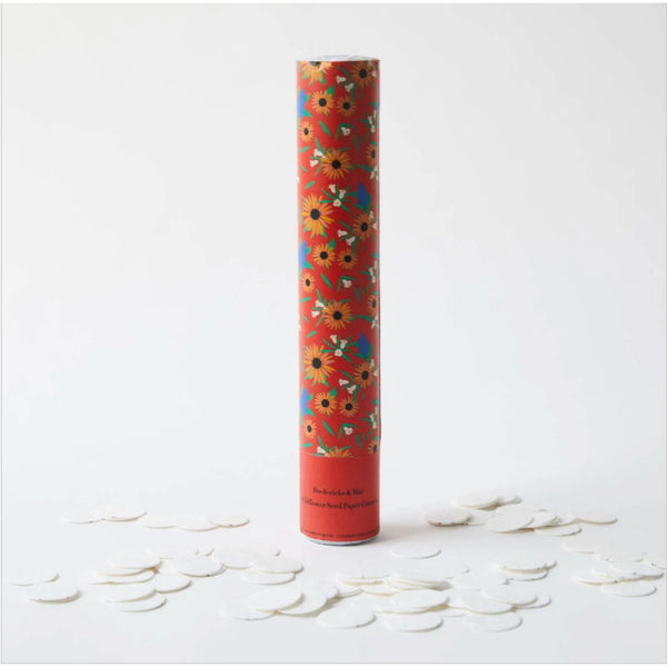 Orange Confetti Cannon - Wildflower Seed Paper