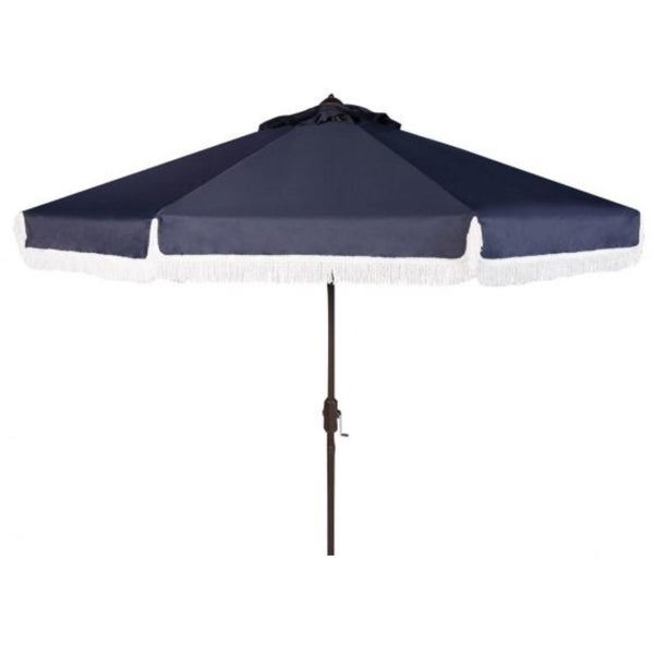 Riviera Fringe Umbrella in Navy